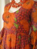 1970's Printed voile Maid Marian vintage dress **SOLD** es